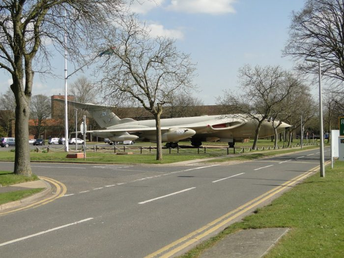 The Handley Page Victor XH673 outside the Marham base. Credit: ADRIAN S PYE CC BY-SA 2.0