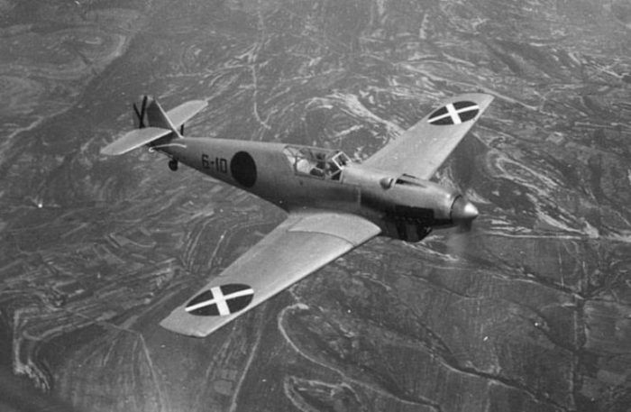 Bf 109A from the Condor Legion during Spanish Civil War (1936-1939).