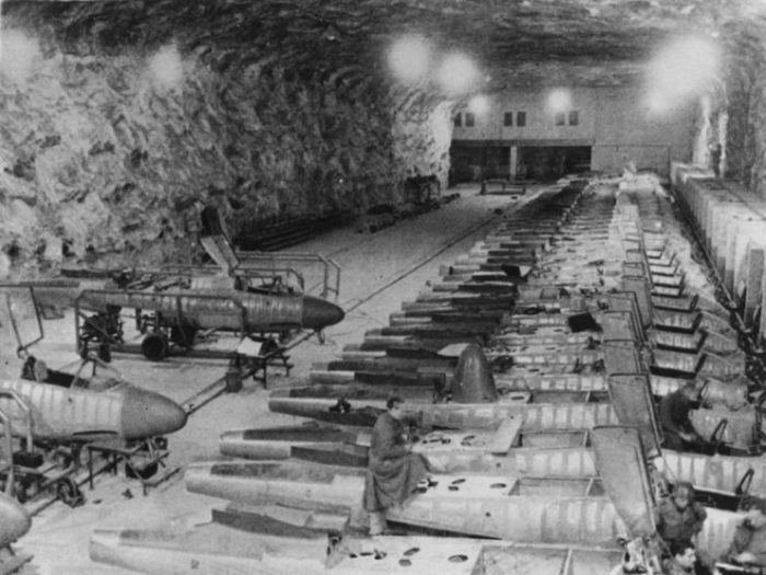 The Hinterbrühl underground production line for the He 162A was captured in April 1945. Photo: Bundesarchiv, Bild 141-2737 / CC-BY-SA 3.0