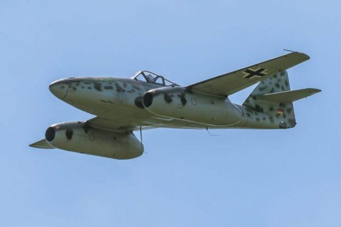 Messerschmitt Me 262 performing demonstration flight.