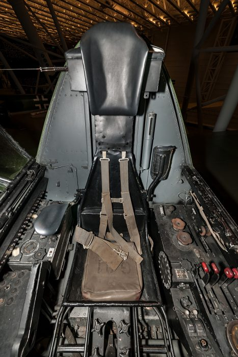 The pilots early type of ejection seat in the Dornier Do 335. Image courtesy of  Smithsonian National Air and Space Museum.