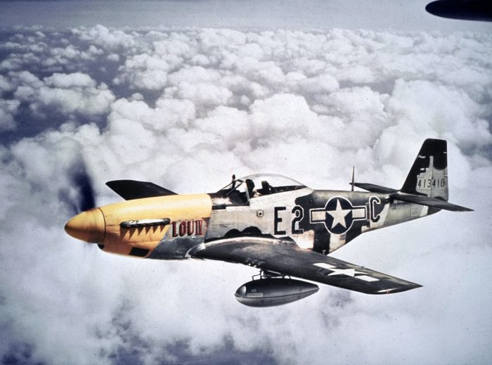 The P-51D with the much better Merlin engine.