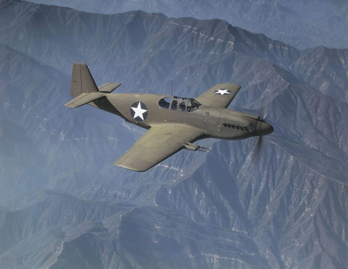 The Allison powered P-51A.