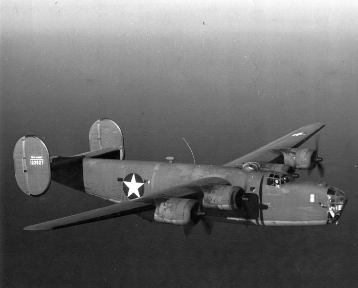 A Consolidated PB4Y-1 similar to Trigg's aircraft.