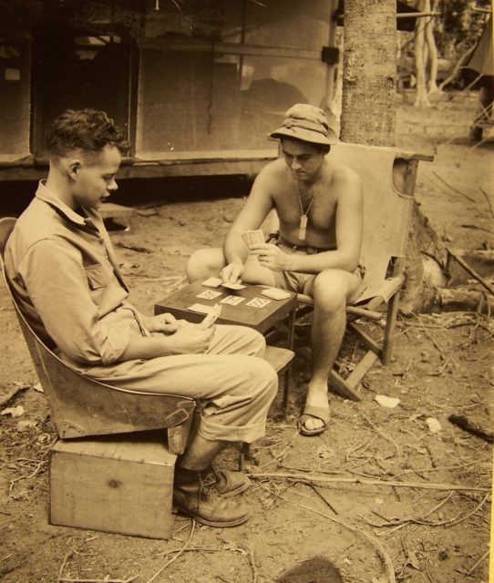While at war, there was understandably a shortage of chairs at camp. Luckily, some soldiers use the cockpit seats of inactive planes to keep themselves comfortable during their down time. It may not be a nice $400 leather office chair, but it certainly had the perks of a place to comfortably lounge.
