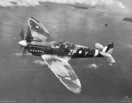 A RAAF Spitfire from 457 Squadron.