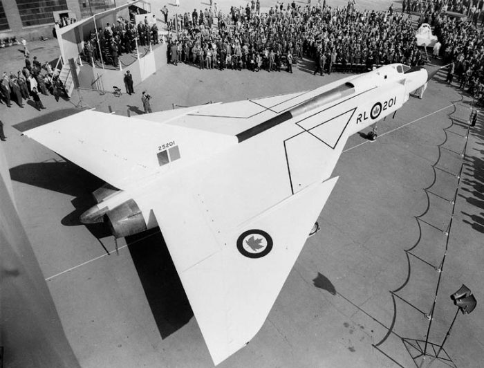 The rollout of the first Avro Arrow
