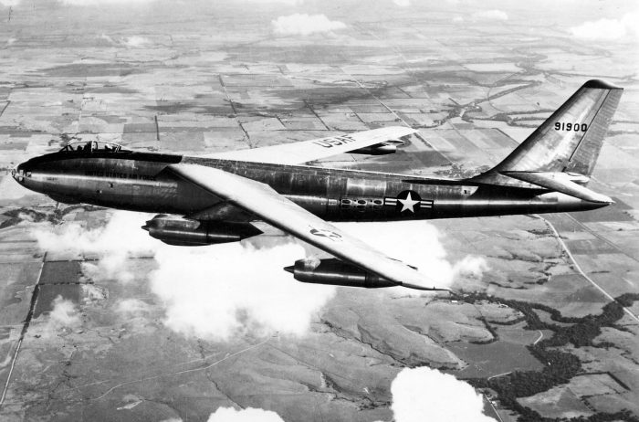 A Boeing B-47A, similar to the aircraft Biggs flew over Korea.
