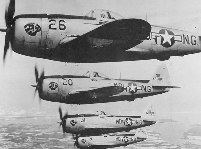 F-47 Thunderbolts in 1947.