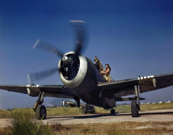 RAF Thunderbolt Mk.II readying for a sortie over Burma. January 1945