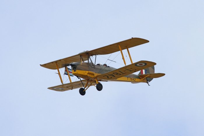 A Tiger Moth, the aircraft Miller trained in. Image by Ronnie Macdonald CC BY 2.0