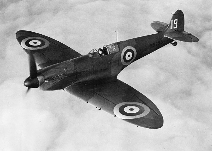 Just 32 years 2 months and 17 days after mankind's first flight, the Supermarine Spitfire first flew, with a top speed of 330 mph.