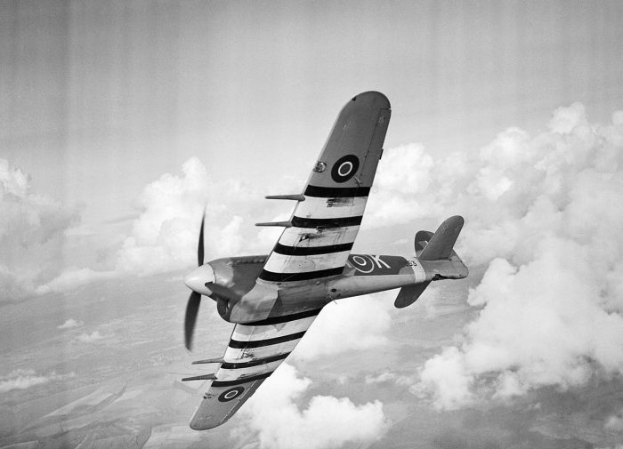 The Hawker Typhoon, one of the fastest aircraft in the skies upon its arrival to combat.