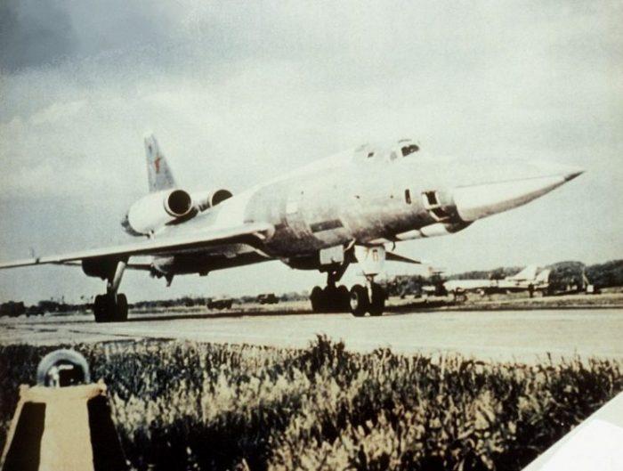 A parked Tupolev Tu-22.