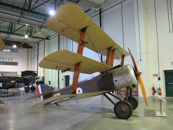 A Sopwith Triplane on display at RAF Museum London. Photo Nick-D CC BY-SA 3.0.