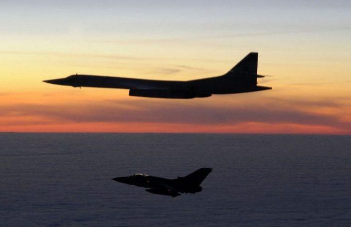 A Tu-160 is intercepted by an RAF Tornado F3 in March 2010. Photo by MoD OGL