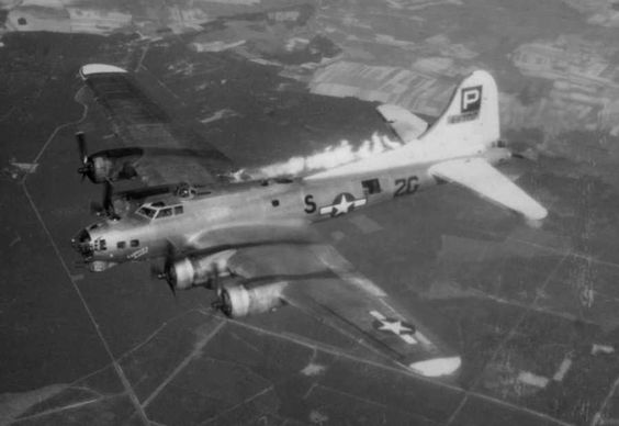 Allied B-17 of the 836th Squadron 10 April 1945.