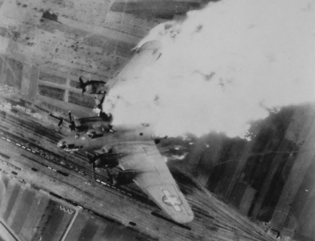 B-17 over Nis, Yugoslavia