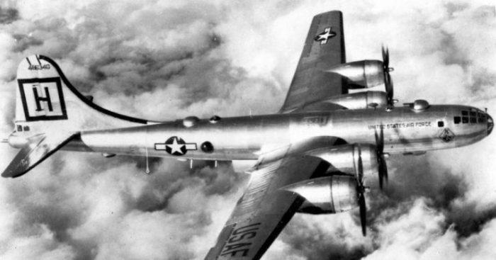B-29 Superfortress in Flight.