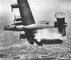 B24 Liberator Hit by Flak