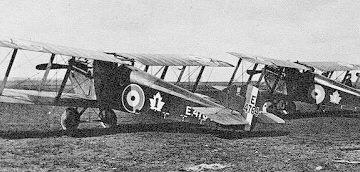 Canadian Air Force Dolphins of No. 1 (Fighter) Squadron at RAF Upper Heyford, December 1918.