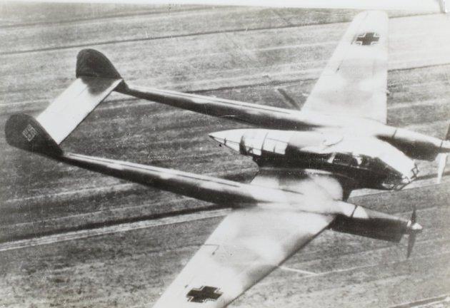Focke-Wulf Fw 189 Uhu (Owl) in flight