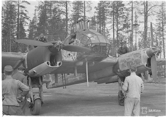Fw 189A-3 on a Finnish airfield in the summer of 1943