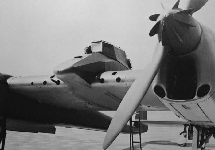 Heavily armored ground-attack Focke-Wulf Fw 189 V6 prototype