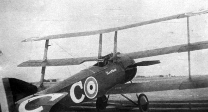 """Raymond Collishaw's Triplane, serial N533. Collishaw flew several Triplanes, all named """"Black Maria."""""""