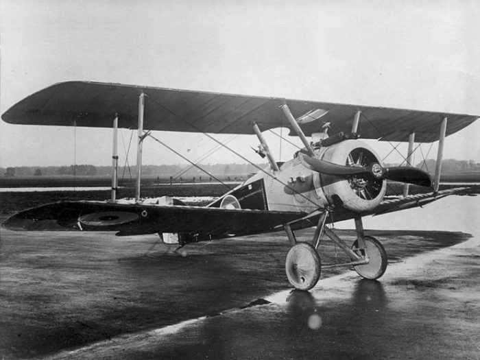 Royal Flying Corps Sopwith F.1 Camel in 1914-1916 period.