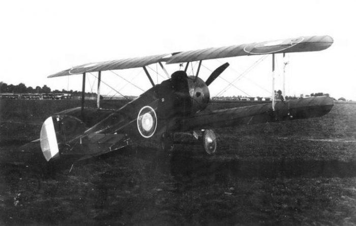 Sopwith Camel at Air Service Production Center No. 2, Romorantin Aerodrome, France, 1918.