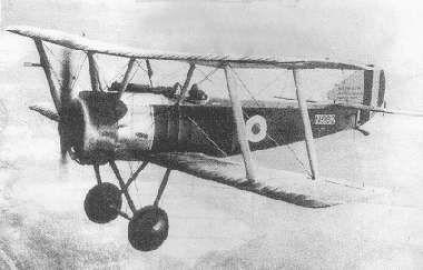 Sopwith Pup in flight (1917).