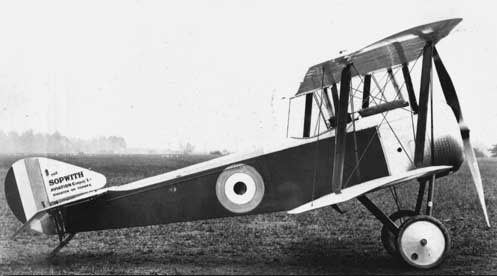 Sopwith Pup side view, 1916