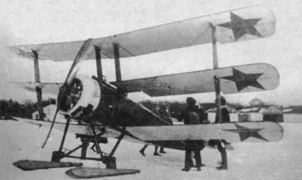 Sopwith Triplane Serial N5486 during its service with the Red Army.