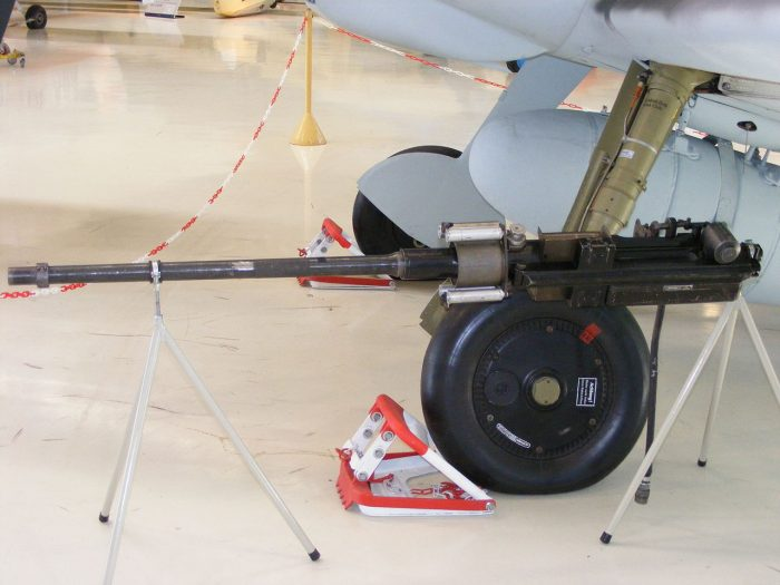 The MG 151/20 20 mm cannon used in the He 162.