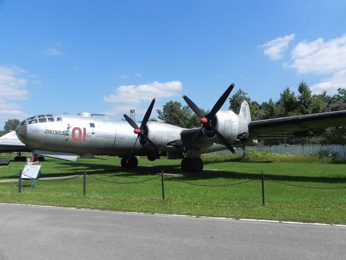 The Tu-4, a Soviet clone of the B-29 Superfortress. Image by AviaWiki CC BY-SA 4.0