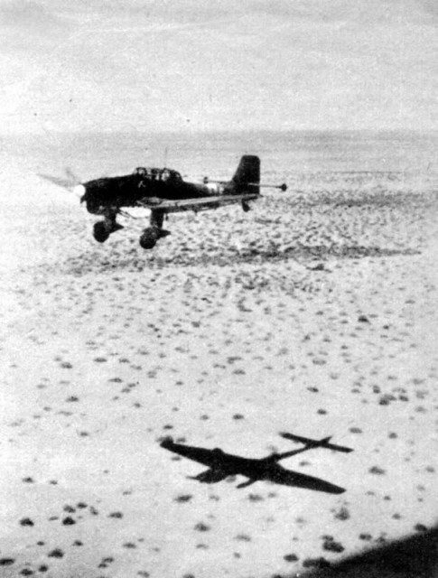 Truly low-level flight of the Ju 87