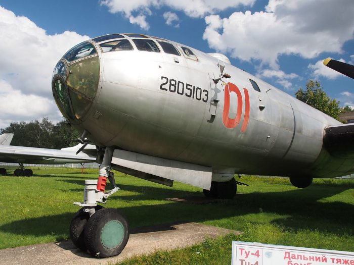 To the untrained eye the Tupolev Tu-4 is identical to the B-29.