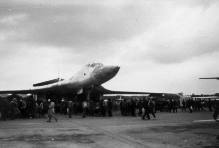 "Tupolev Tu-160 ""Blackjack"" at the MAKS Airshow 1993."