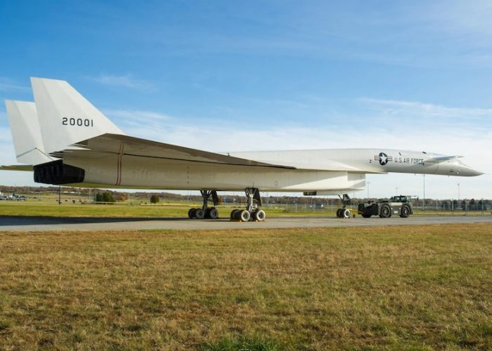 The XB-70 was capable of flying over 2,000 mph. Image courtesy of the National Museum of the United States Air Force.