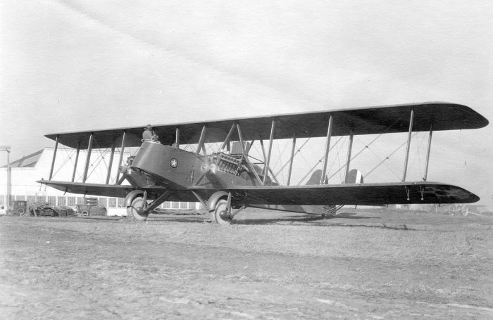 An Martin MB-2 bomber, the type used by Mitchell.