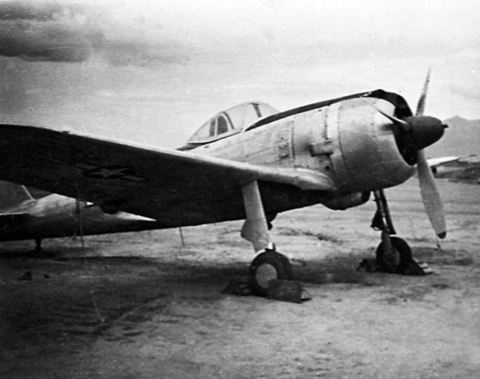 "A captured Japanese Nakajima Ki-43 Hayabusa (Allied code name ""Oscar"") fighter at Clark Field, Luzon (Philippines), in 1945."