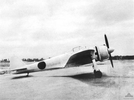 A Japanese Nakajima Ki-43-I Hayabusa at Brisbane, Queensland (Australia) in 1943.