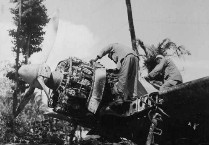 Captured Ki-43 Hayabusa on Munda Field 14 June 1944