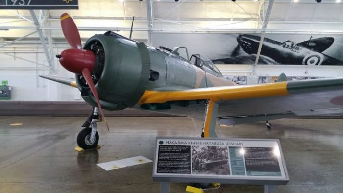 Front view, Nakajima Ki-43-IB Oscar at the Flying Heritage Collection.Photo Articseahorse CC BY-SA 4.0