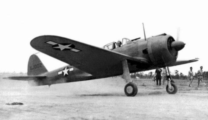 Nakajima Ki-43-IB Hayabusa taking off at Brisbane, Queensland (Australia) in 1943. After its capture it was rebuilt by the Technical Air Intelligence Unit (TAIU) in Hangar 7 at Eagle Farm, Brisbane.