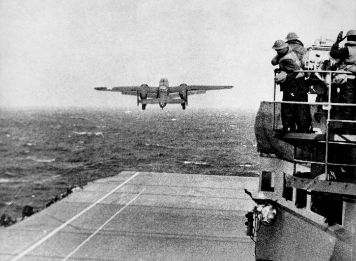 A B-25 takes off for the Doolittle Raid.