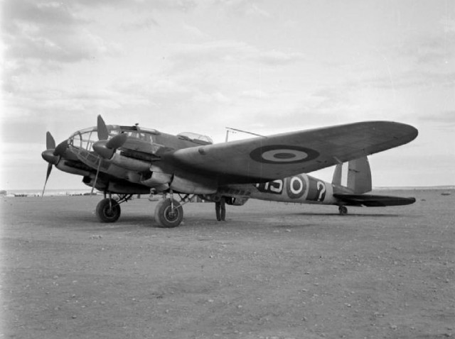 A captured Heinkel He 111H bomber, which was abandoned by the Luftwaffe during the retreat after the Battle of El Alamein