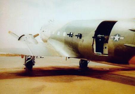 An AC-47 armed with three Miniguns in Vietnam.