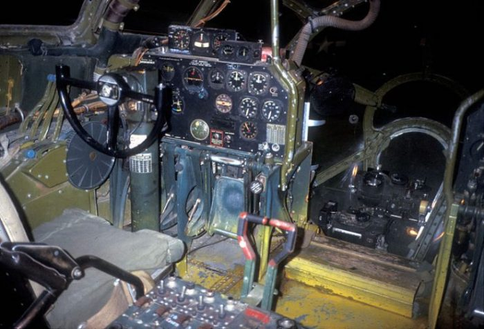 Boeing B-29 Bockscar cockpit.